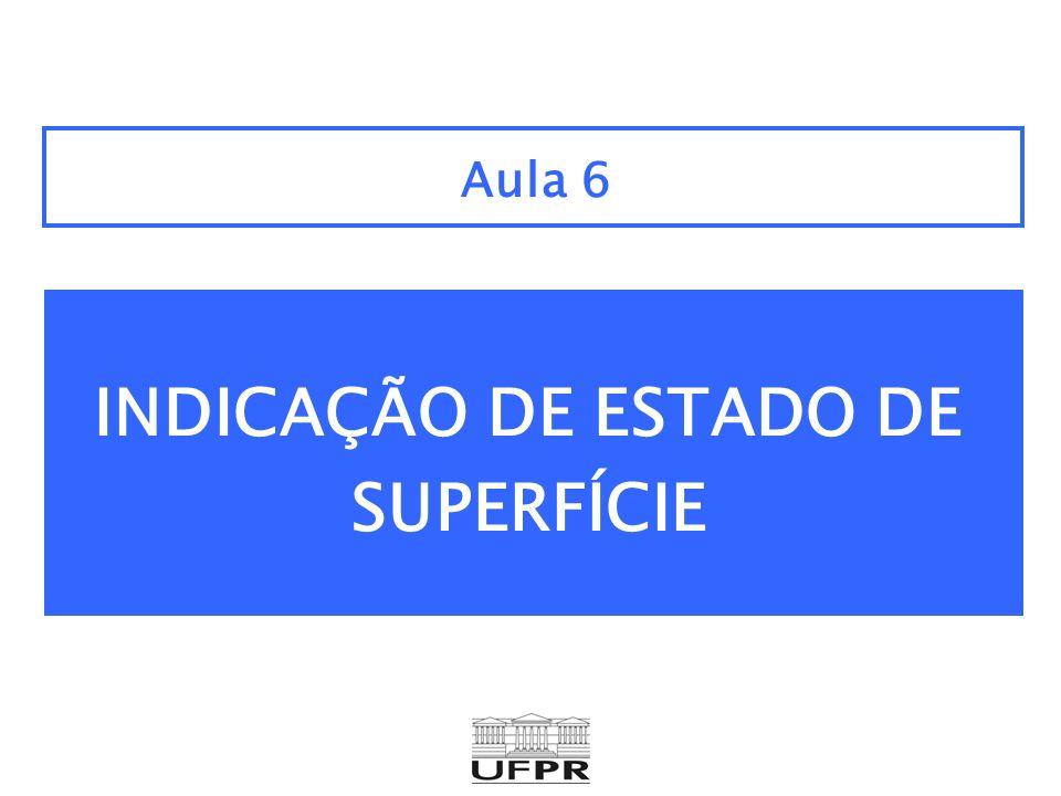 INDICAÇÃO DE ESTADO DE SUPERFÍCIE