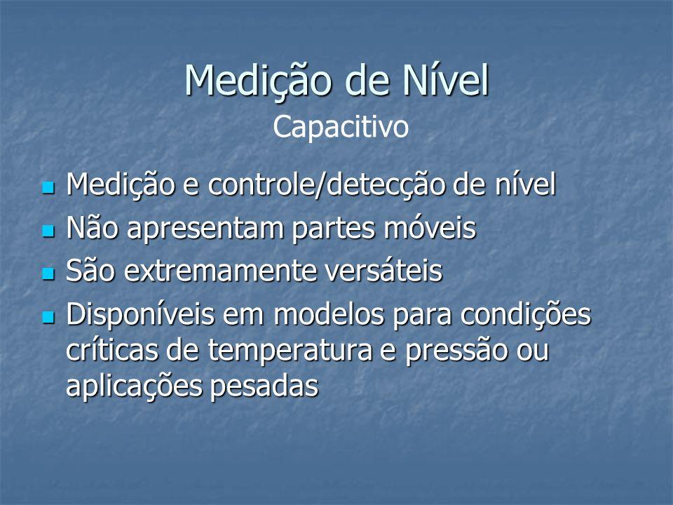 Medição de Nível Capacitivo Medição e controle/detecção de nível