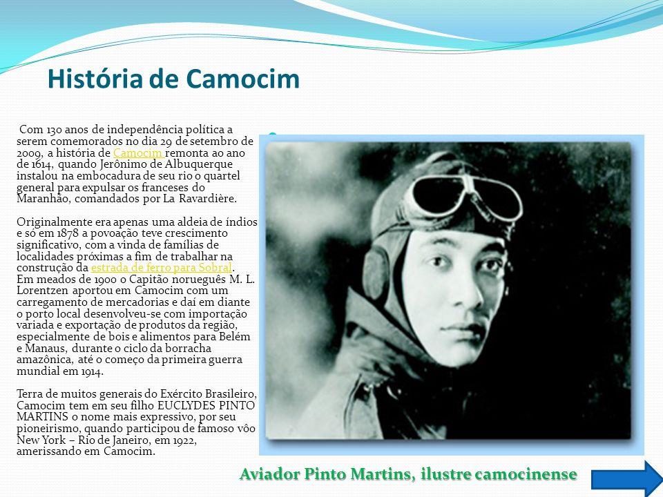 História de Camocim Aviador Pinto Martins, ilustre camocinense