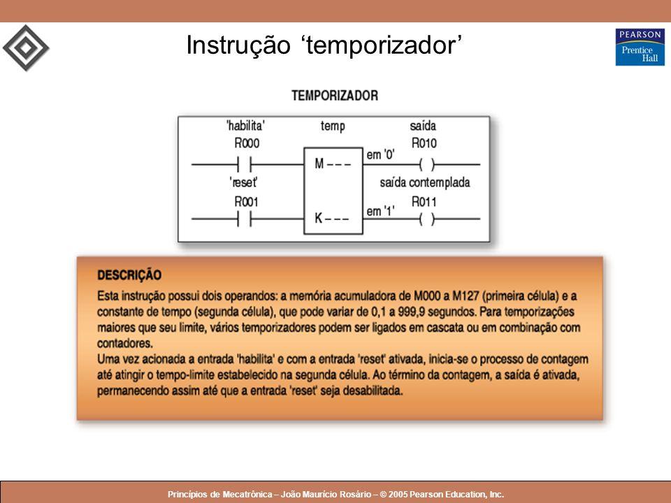 Instrução 'temporizador'