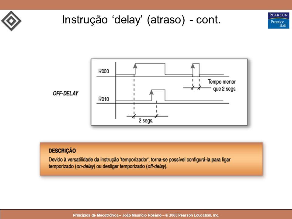 Instrução 'delay' (atraso) - cont.