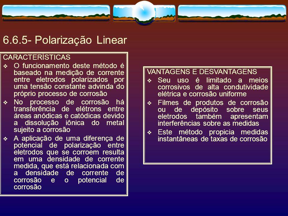 6.6.5- Polarização Linear CARACTERÍSTICAS