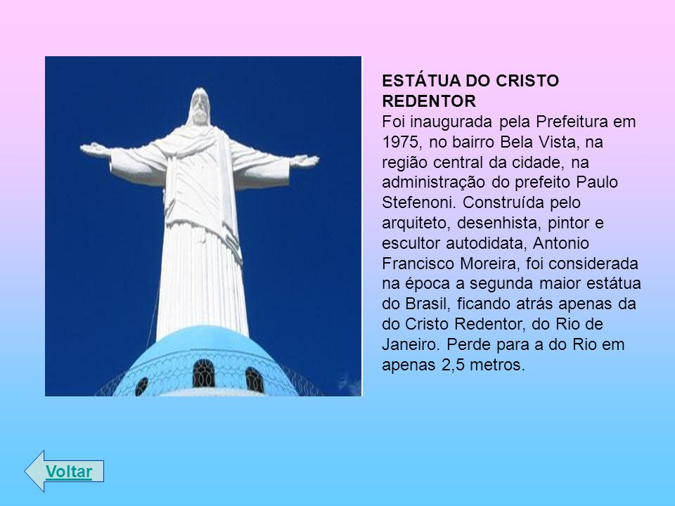 ESTÁTUA DO CRISTO REDENTOR