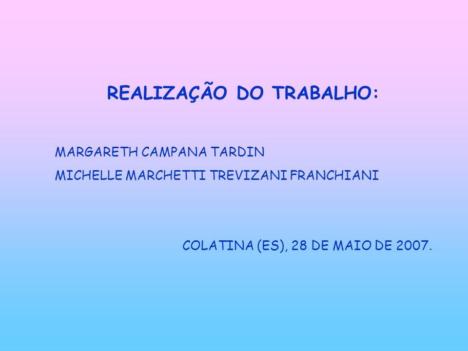 REALIZAÇÃO DO TRABALHO: