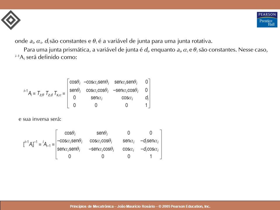 Princípios de Mecatrônica – João Maurício Rosário – © 2005 Pearson Education, Inc.