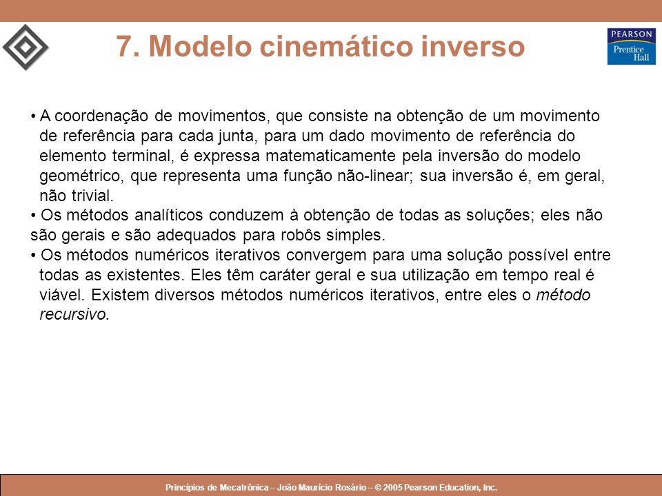 7. Modelo cinemático inverso