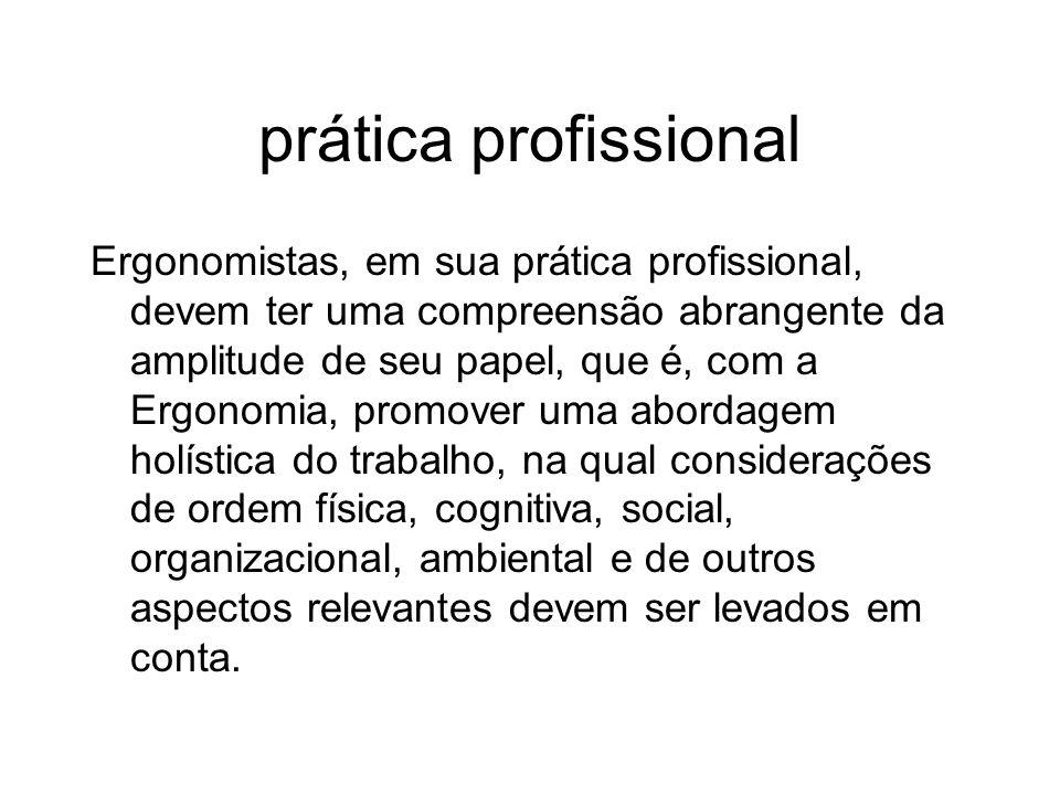 prática profissional