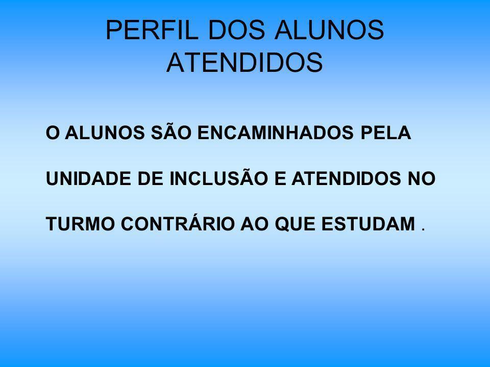 PERFIL DOS ALUNOS ATENDIDOS