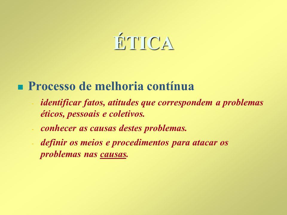 ÉTICA Processo de melhoria contínua
