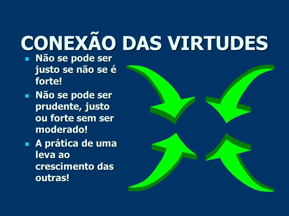 CONEXÃO DAS VIRTUDES Não se pode ser justo se não se é forte!