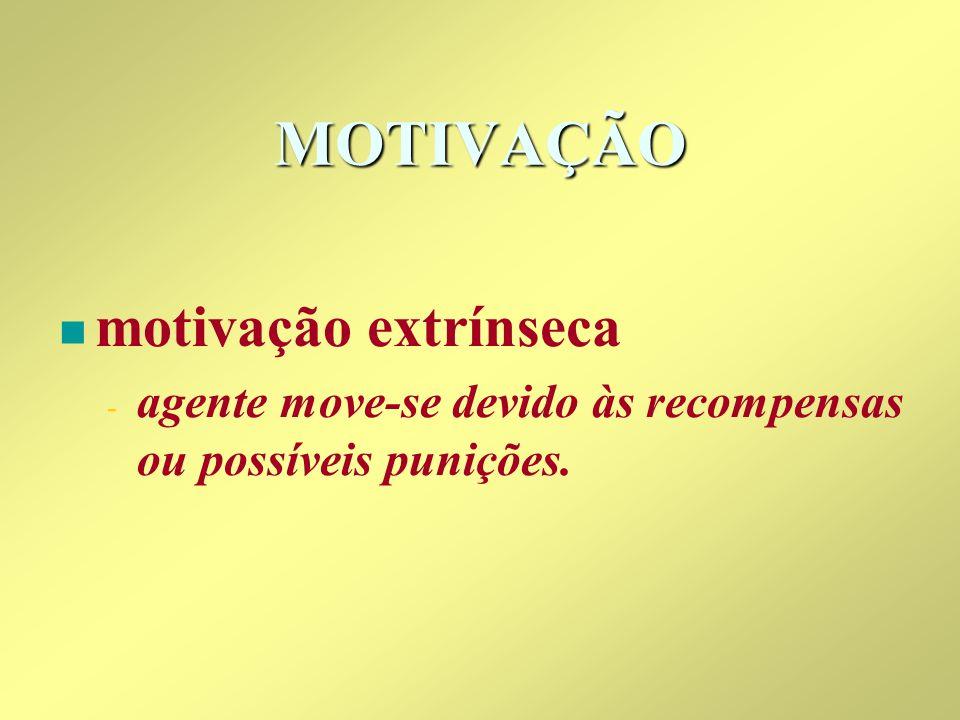 MOTIVAÇÃO motivação extrínseca