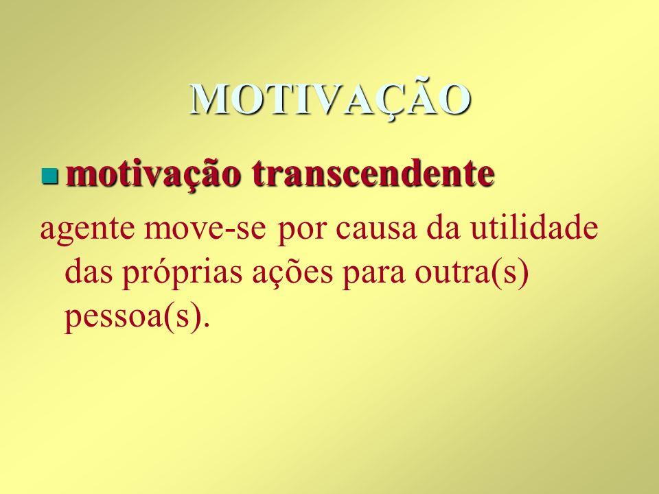 MOTIVAÇÃO motivação transcendente