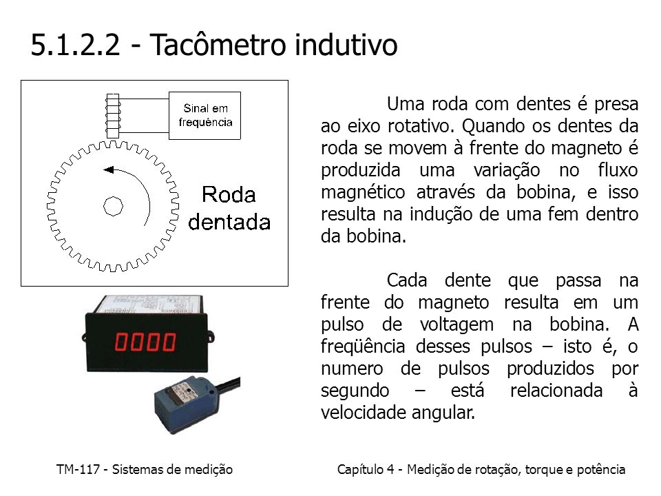 5.1.2.2 - Tacômetro indutivo