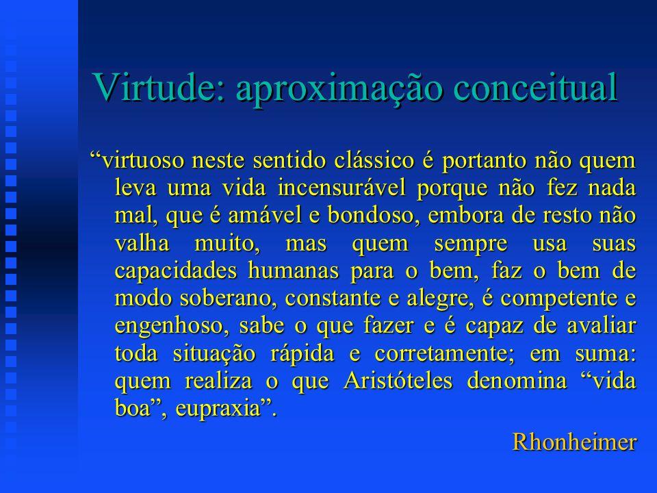 Virtude: aproximação conceitual