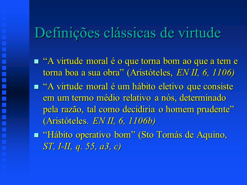 Definições clássicas de virtude