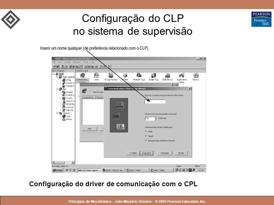 Configuração do CLP no sistema de supervisão