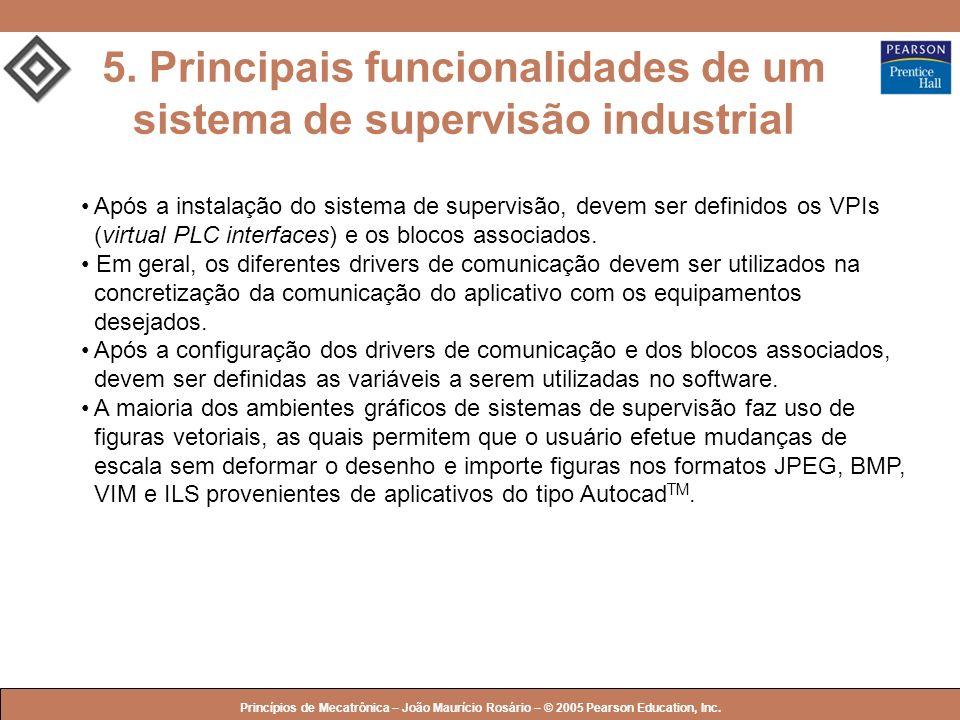 5. Principais funcionalidades de um sistema de supervisão industrial