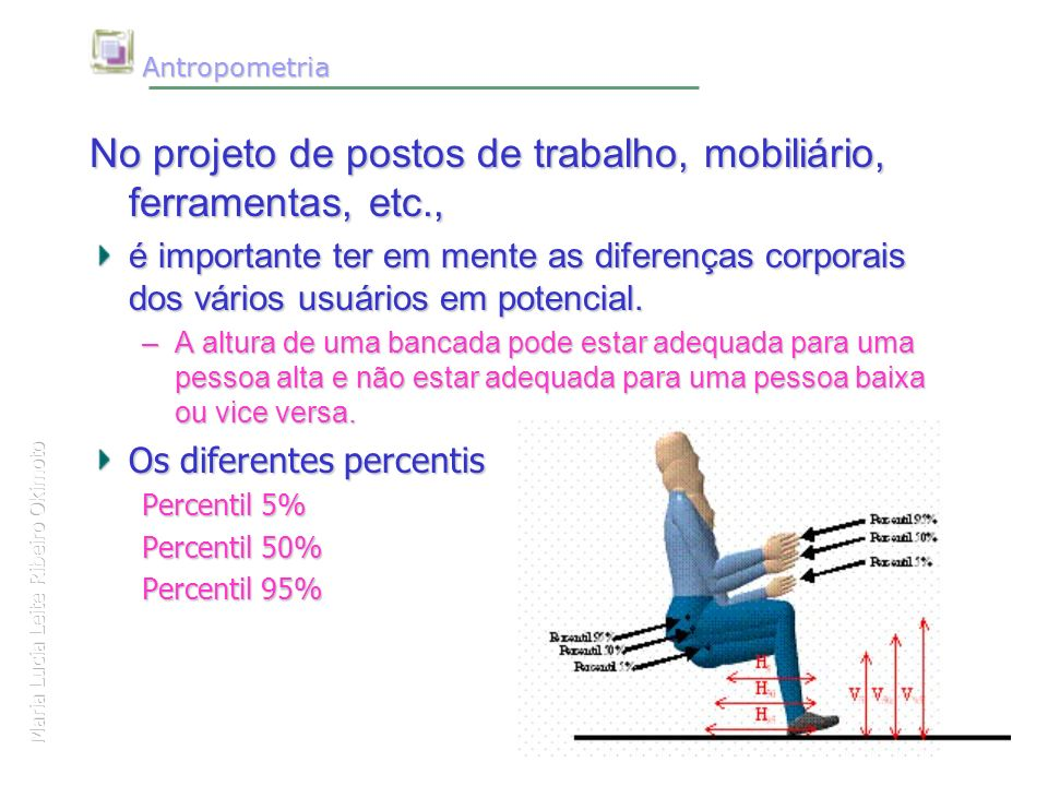 Fundamentos da ergonomia profa maria lucia l ribeiro for Antropometria mobiliario