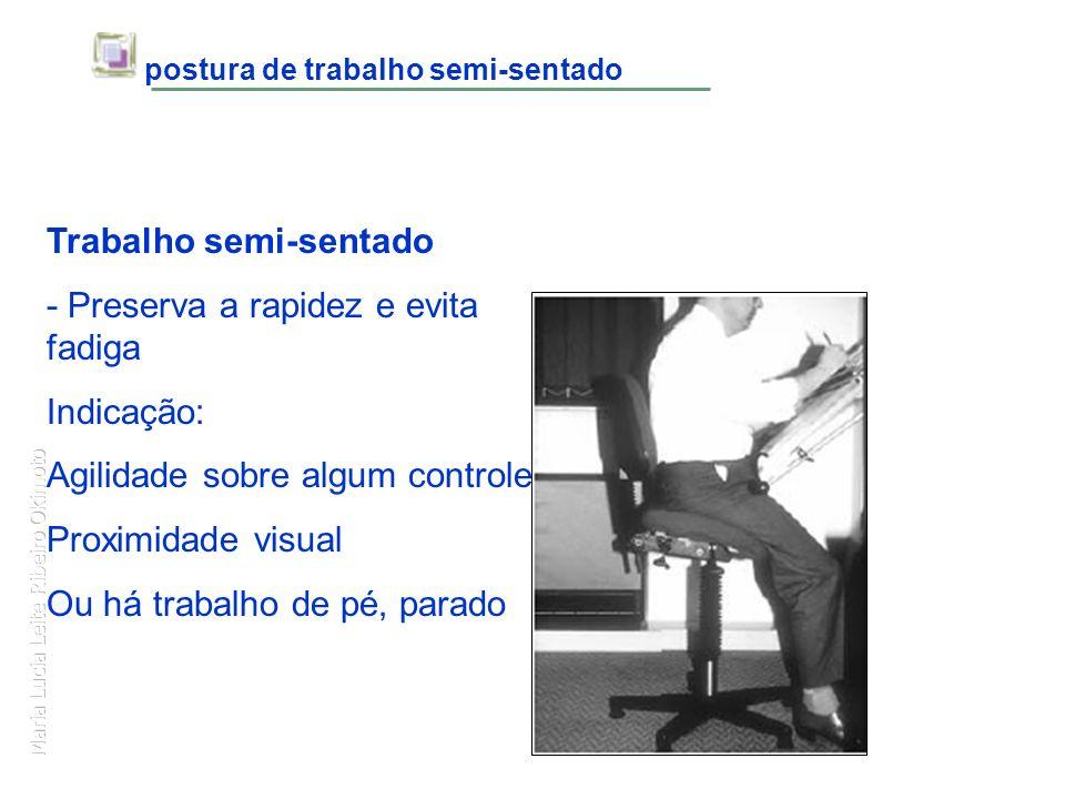 postura de trabalho semi-sentado