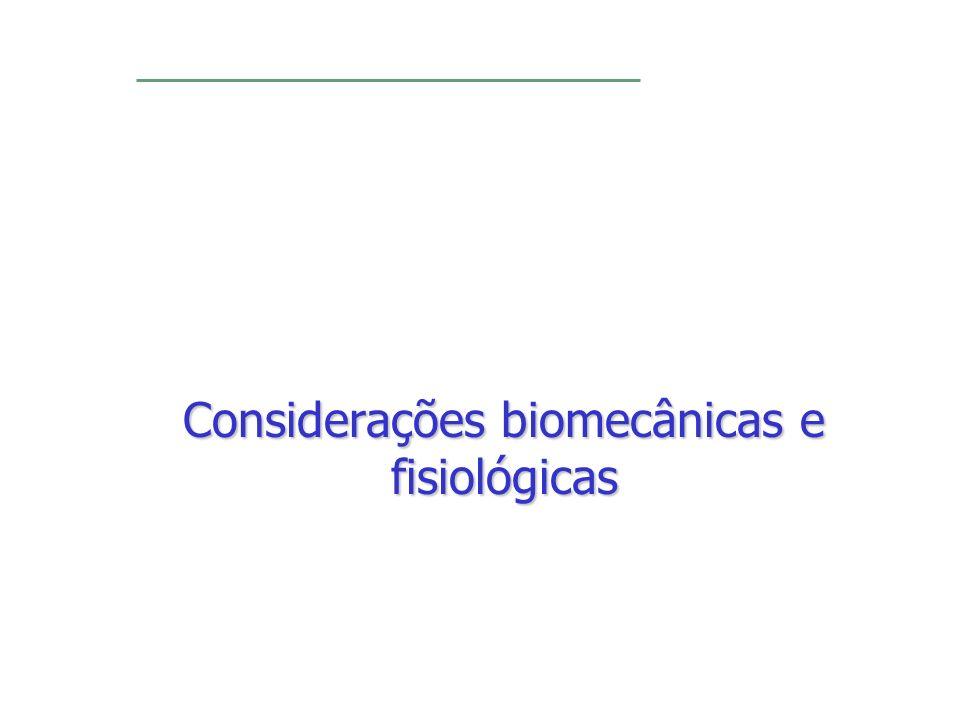 Considerações biomecânicas e fisiológicas