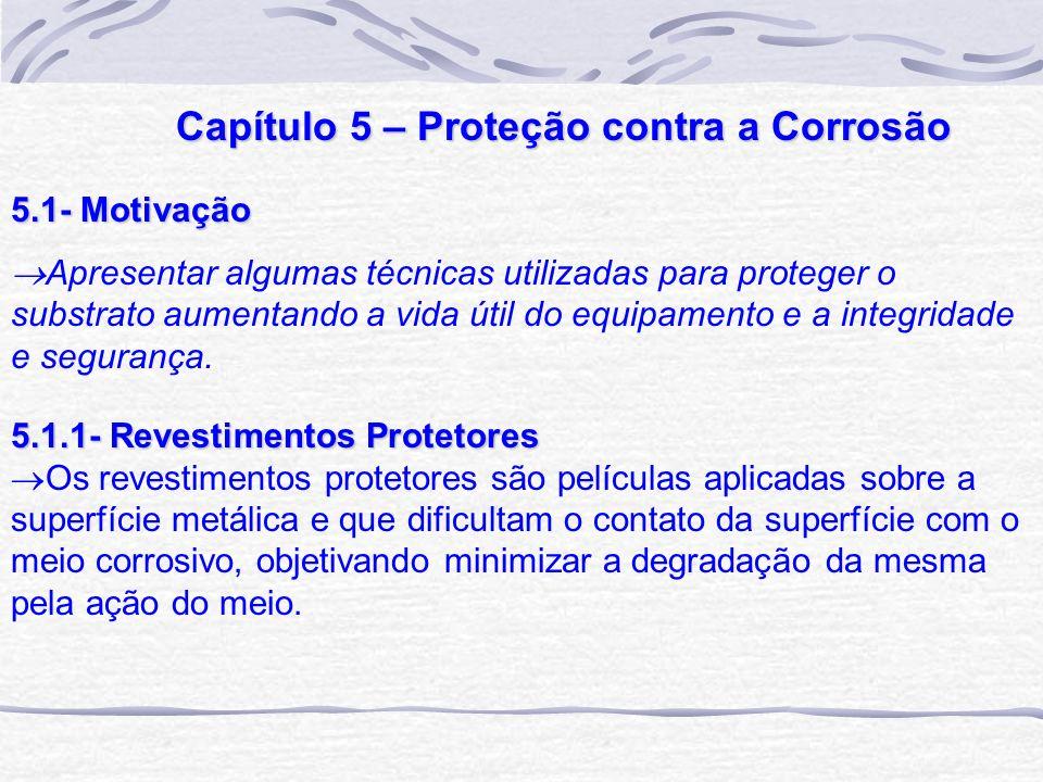 Capítulo 5 – Proteção contra a Corrosão