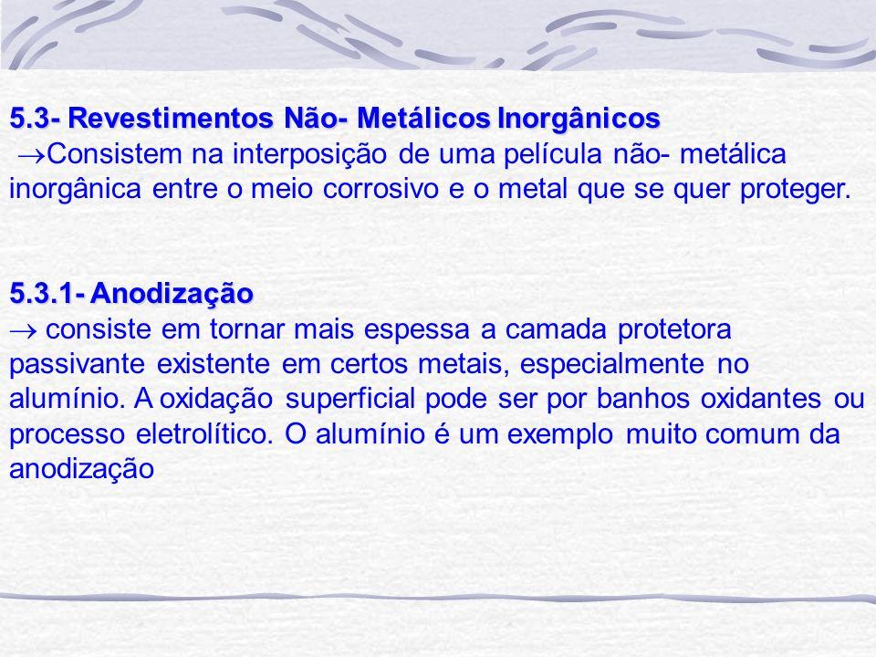 5.3- Revestimentos Não- Metálicos Inorgânicos