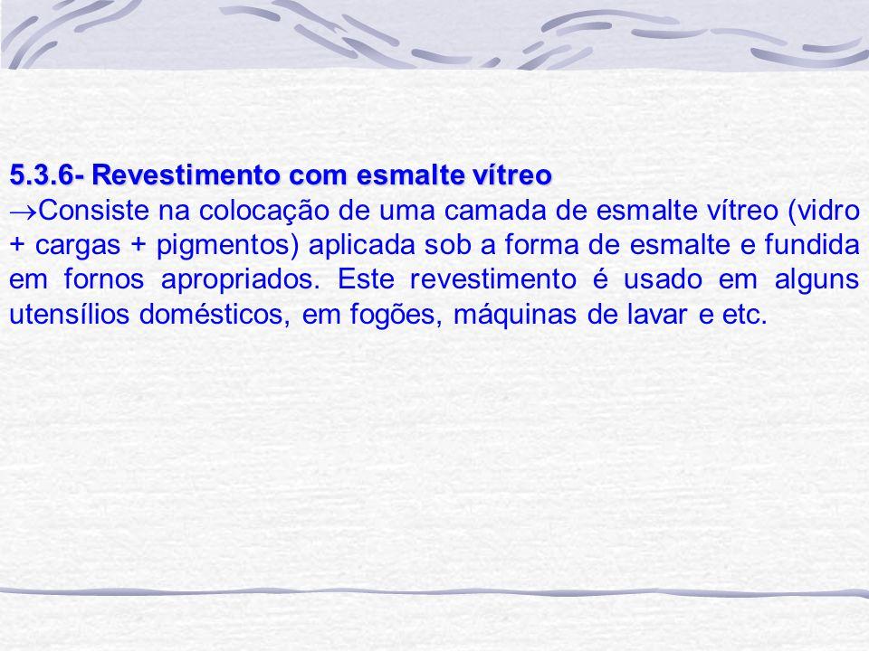 5.3.6- Revestimento com esmalte vítreo
