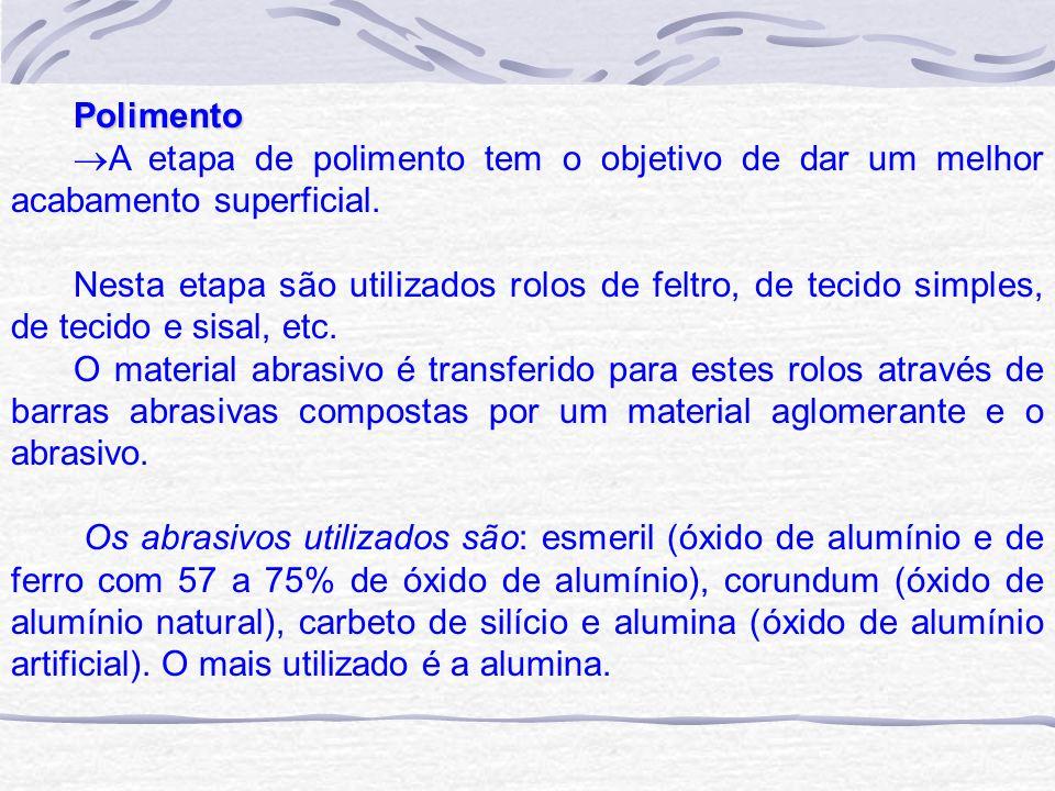 Polimento A etapa de polimento tem o objetivo de dar um melhor acabamento superficial.