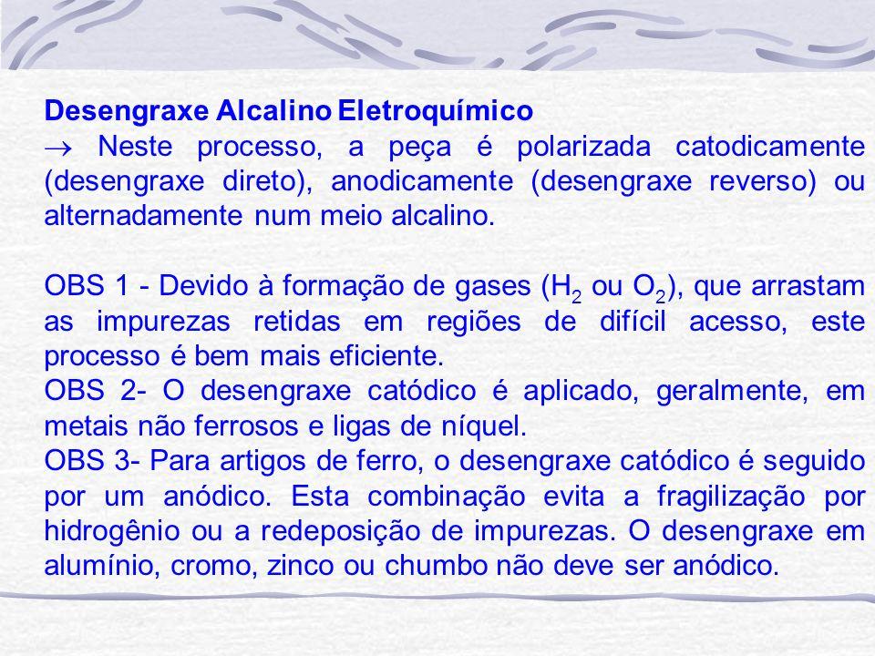 Desengraxe Alcalino Eletroquímico