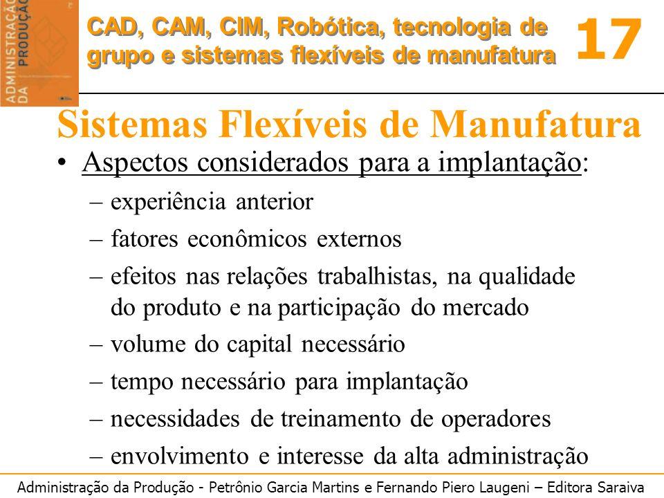 Sistemas Flexíveis de Manufatura