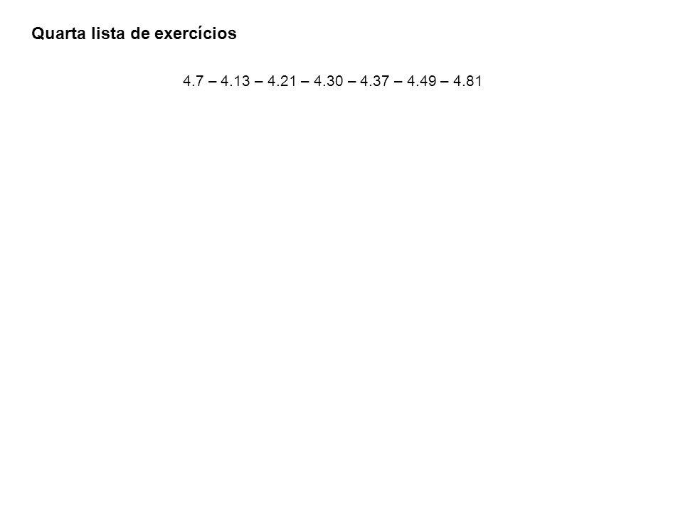Quarta lista de exercícios