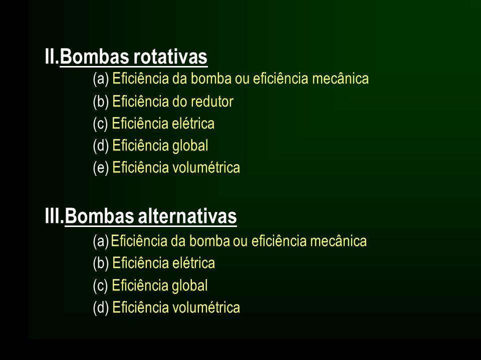 III.Bombas alternativas