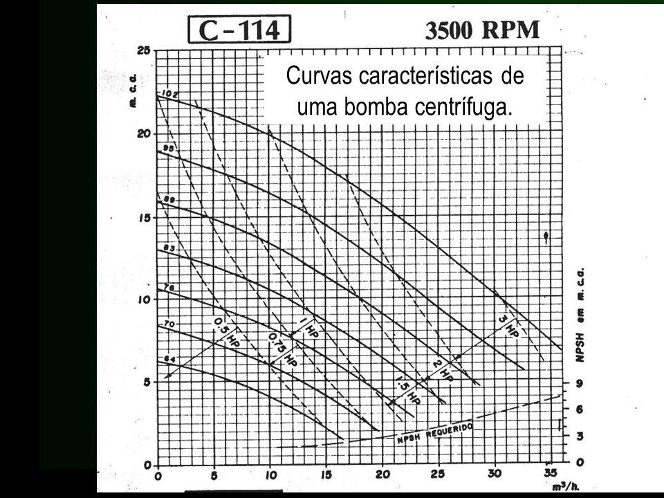 Curvas características de uma bomba centrífuga.