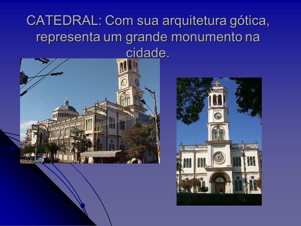 CATEDRAL: Com sua arquitetura gótica, representa um grande monumento na cidade.