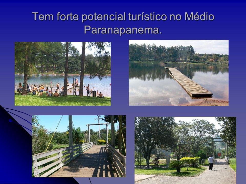 Tem forte potencial turístico no Médio Paranapanema.