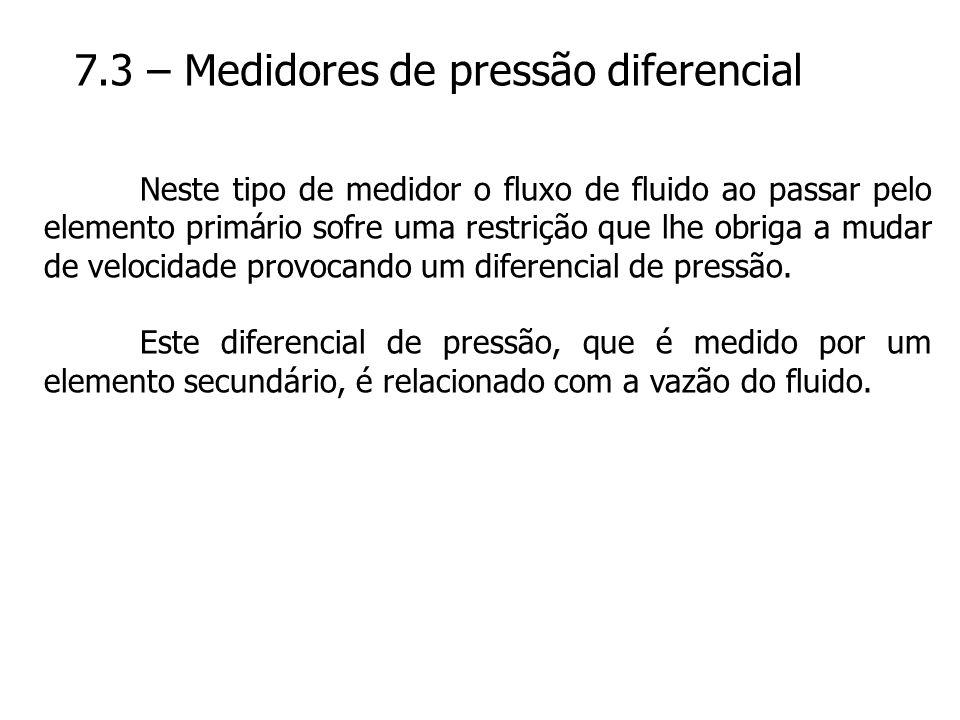 7.3 – Medidores de pressão diferencial