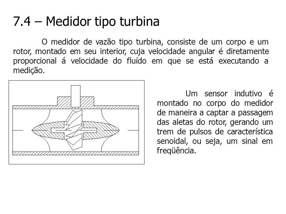 7.4 – Medidor tipo turbina
