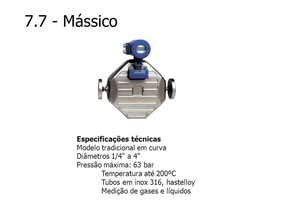 7.7 - Mássico Especificações técnicas