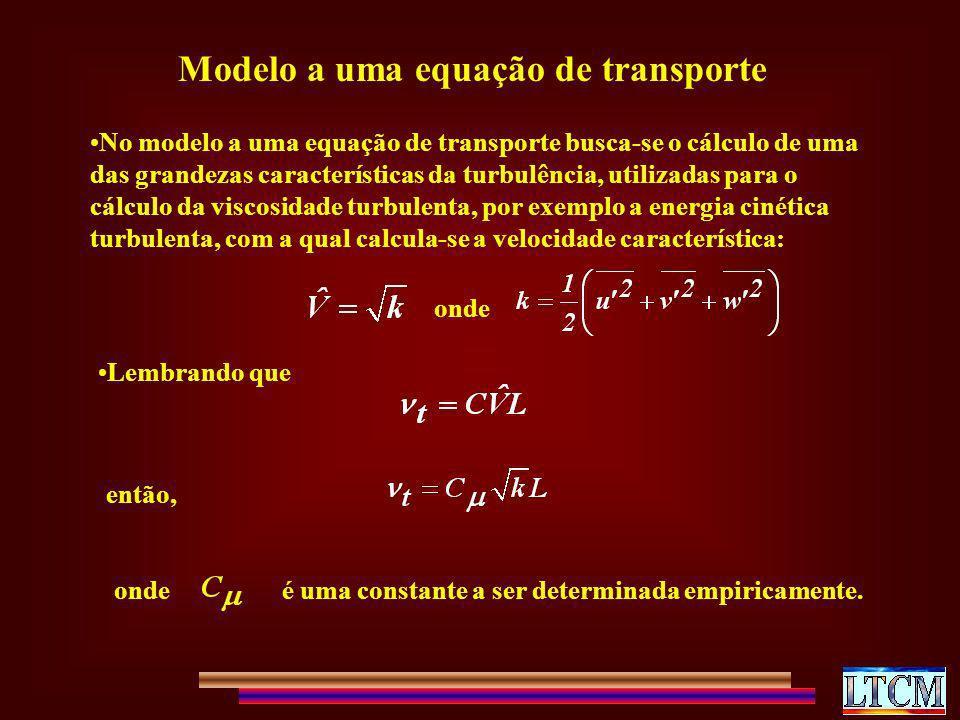 Modelo a uma equação de transporte