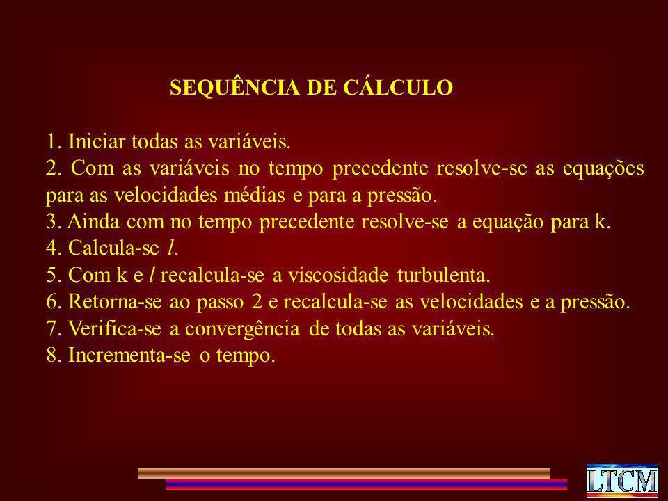 SEQUÊNCIA DE CÁLCULO 1. Iniciar todas as variáveis.