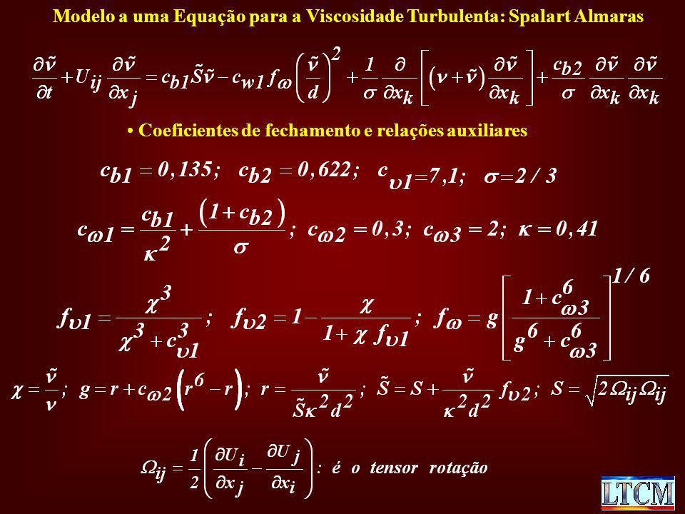 Modelo a uma Equação para a Viscosidade Turbulenta: Spalart Almaras