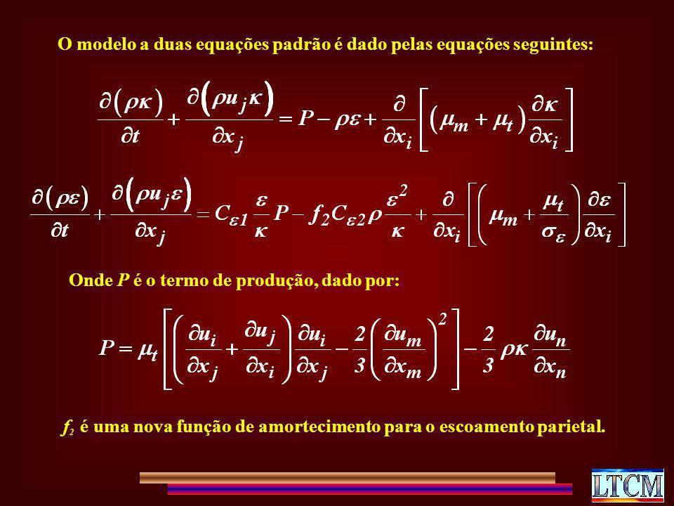 O modelo a duas equações padrão é dado pelas equações seguintes: