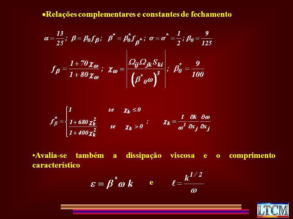 Relações complementares e constantes de fechamento