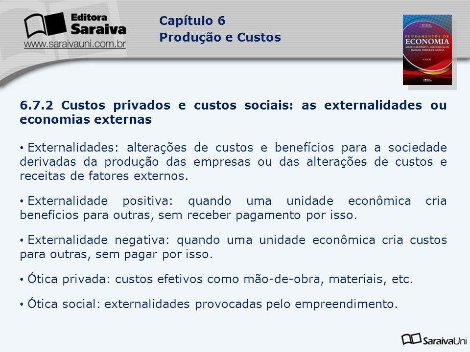 Ótica privada: custos efetivos como mão-de-obra, materiais, etc.