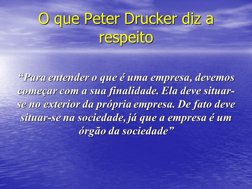 O que Peter Drucker diz a respeito