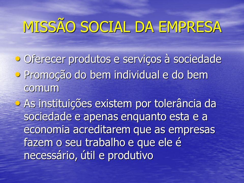 MISSÃO SOCIAL DA EMPRESA