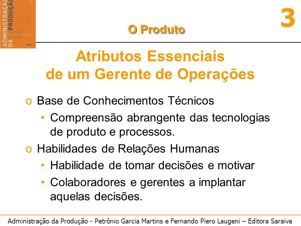 Atributos Essenciais de um Gerente de Operações