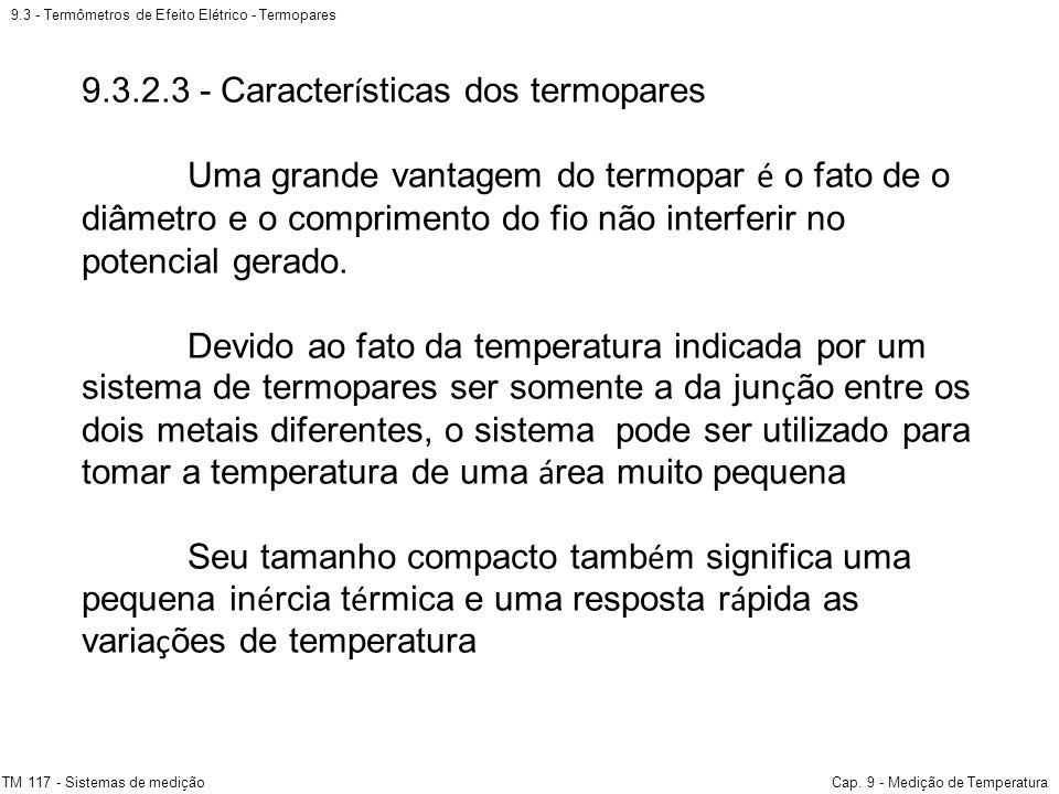 9.3.2.3 - Características dos termopares