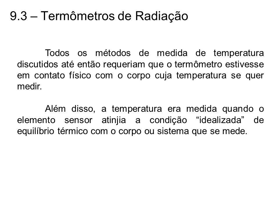 9.3 – Termômetros de Radiação