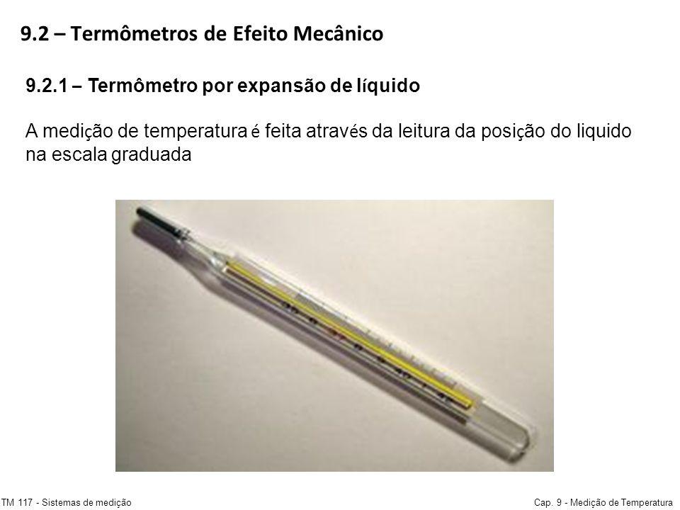 9.2 – Termômetros de Efeito Mecânico